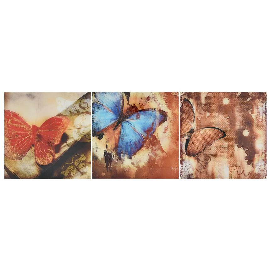 Papillon Set of 3 Acrylic Wall Art  main image, 1 of 5 images.