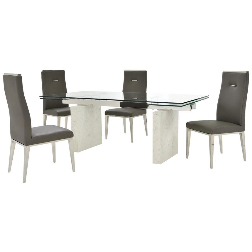 Industria/Hyde Gray 5-Piece Formal Dining Set  main image, 1 of 15 images.