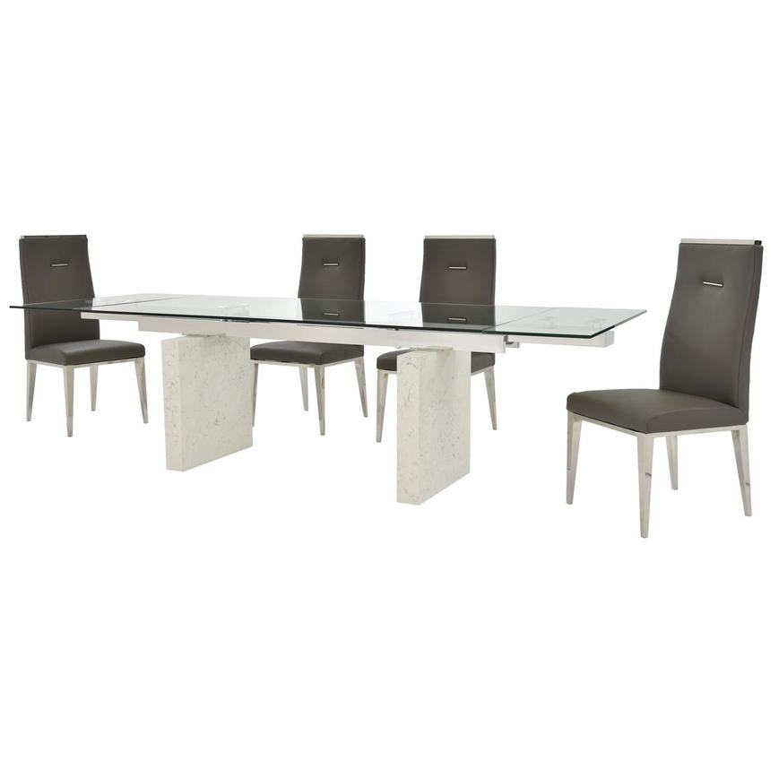 Industria/Hyde Gray 5-Piece Formal Dining Set  alternate image, 2 of 15 images.