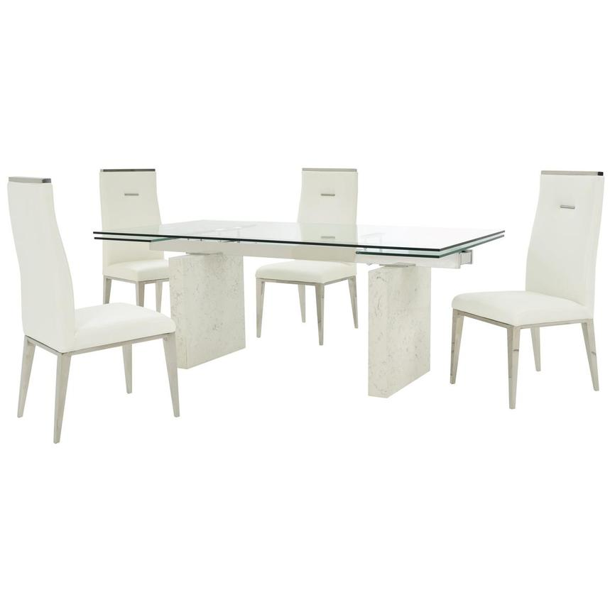 Industria/Hyde I White 5-Piece Dining Set  main image, 1 of 16 images.