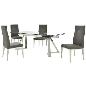 Suri/Hyde I Dark Gray 5-Piece Dining Set