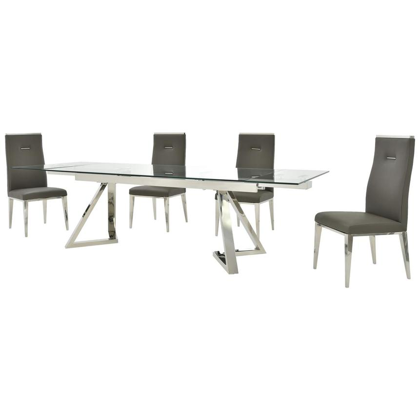 Suri/Hyde Gray 5-Piece Formal Dining Set  alternate image, 2 of 14 images.