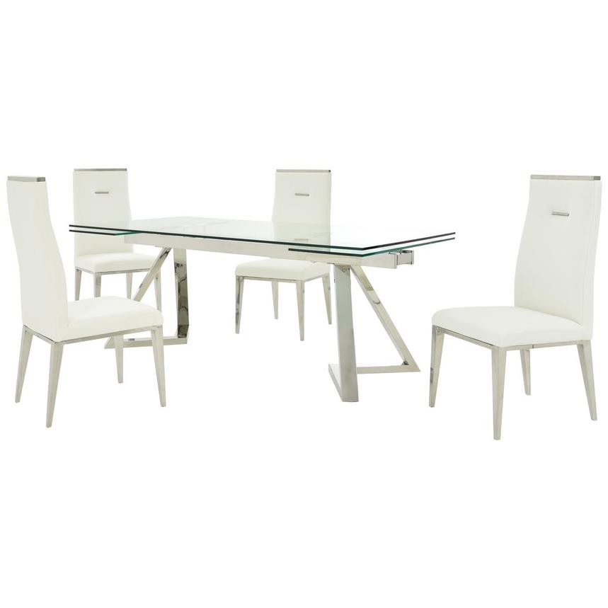 Suri/Hyde I White 5-Piece Formal Dining Set  main image, 1 of 14 images.