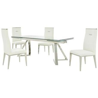Suri/Hyde I White 5-Piece Dining Set
