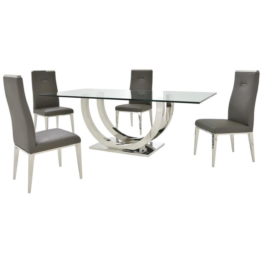 Ulysis/Hyde I Dark Gray 5-Piece Formal Dining Set  main image, 1 of 13 images.