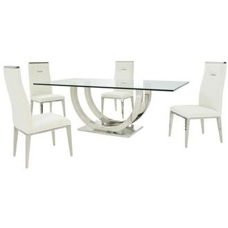 Ulysis/Hyde I White 5-Piece Formal Dining Set