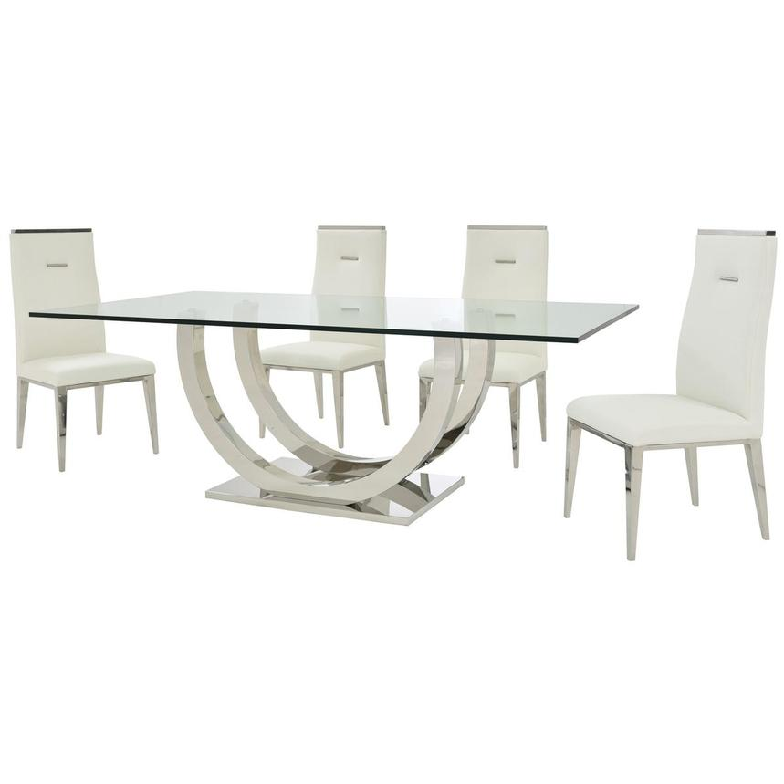 Ulysis/Hyde White 5-Piece Formal Dining Set  alternate image, 2 of 13 images.