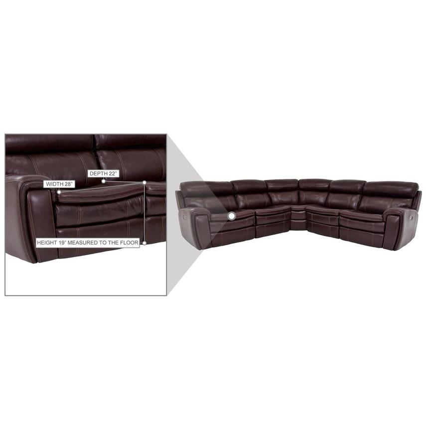 Napa Burgundy Leather Power Reclining Sectional  alternate image, 7 of 8 images.