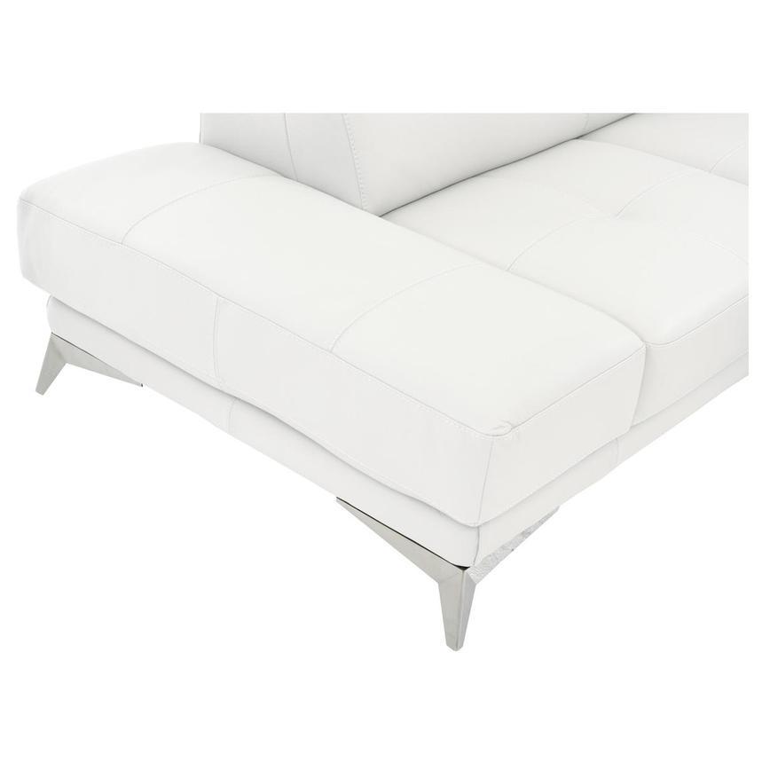 Strange Winner White Leather Corner Sofa W Left Chaise Machost Co Dining Chair Design Ideas Machostcouk