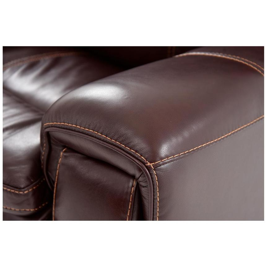 Napa Burgundy Home Theater Leather Seating  alternate image, 6 of 8 images.