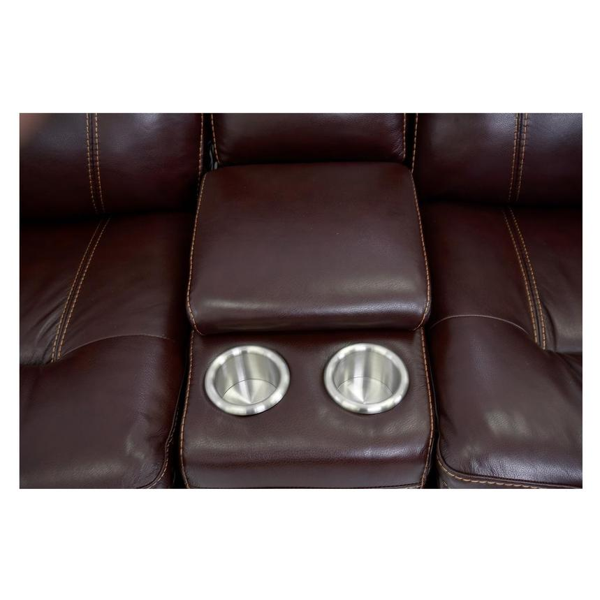 Napa Burgundy Home Theater Leather Seating  alternate image, 8 of 10 images.