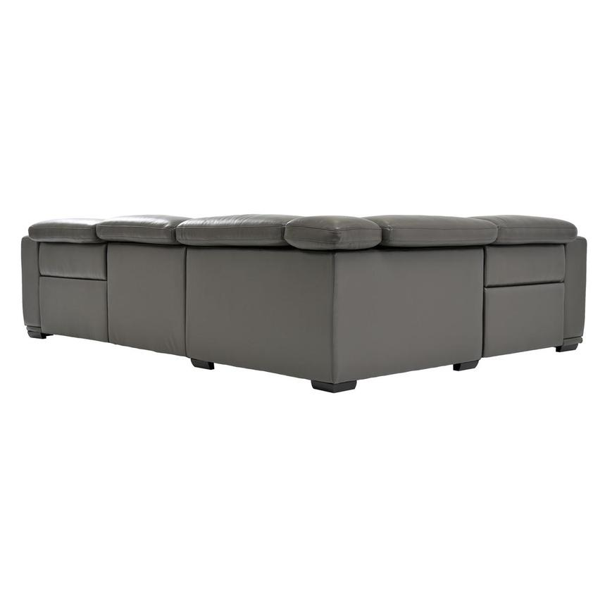 Davis 2.0 Dark Gray Leather Power Reclining Sectional  alternate image, 5 of 8 images.