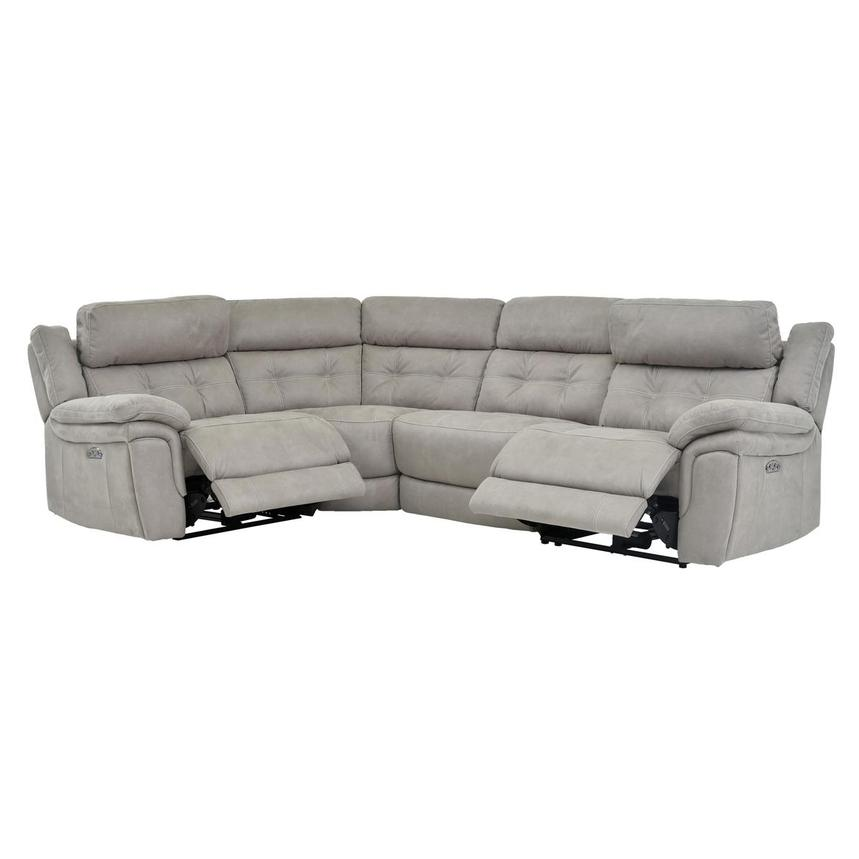 Stallion Ligth Gray Power Motion Sofa w/Right & Left Recliners  alternate image, 2 of 6 images.