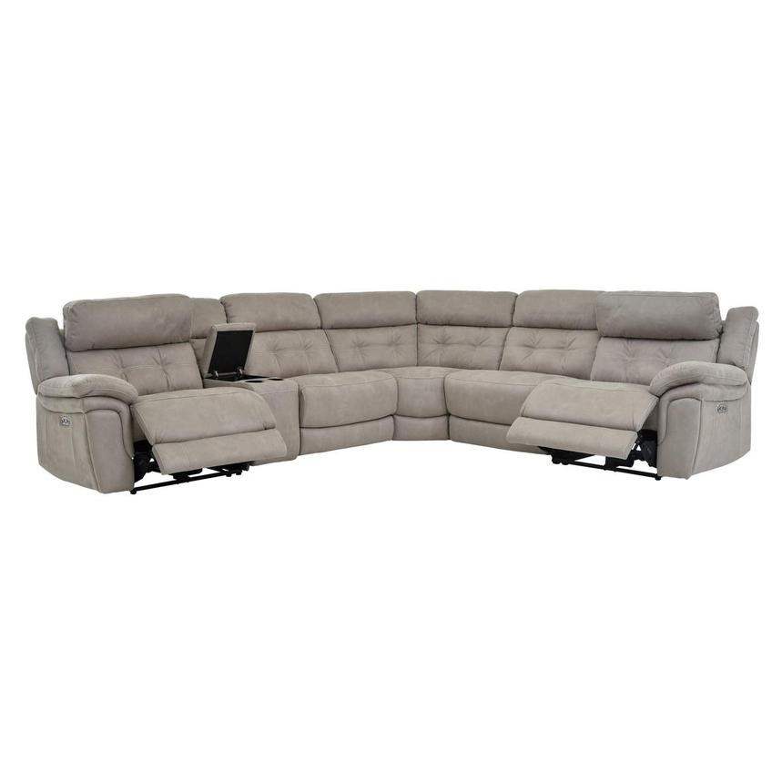 Stallion Ligth Gray Power Motion Sofa w/Right & Left Recliners  alternate image, 2 of 7 images.