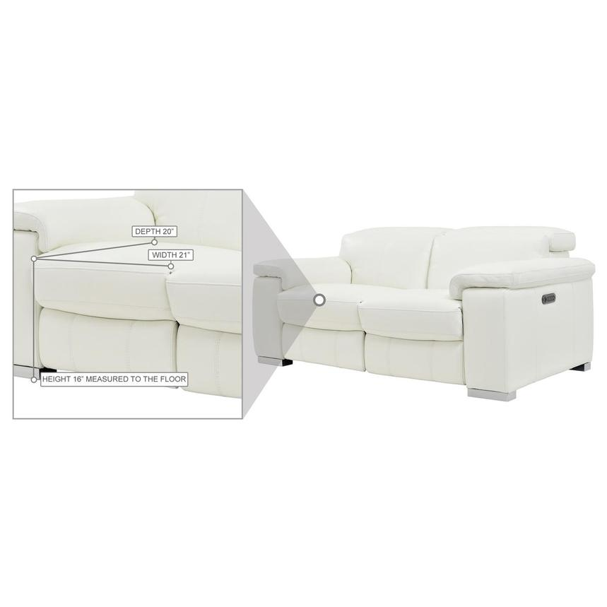 Charlie White Leather Power Reclining Loveseat  alternate image, 10 of 10 images.