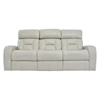 Gio Cream Leather Power Reclining Sofa