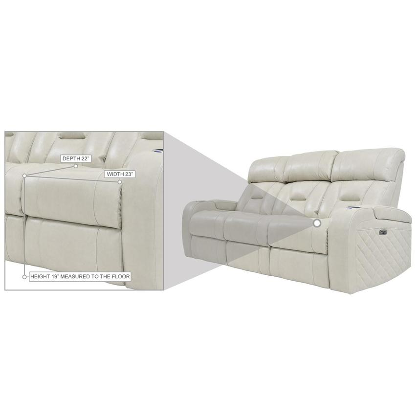 Gio Cream Leather Power Reclining Sofa  alternate image, 13 of 14 images.