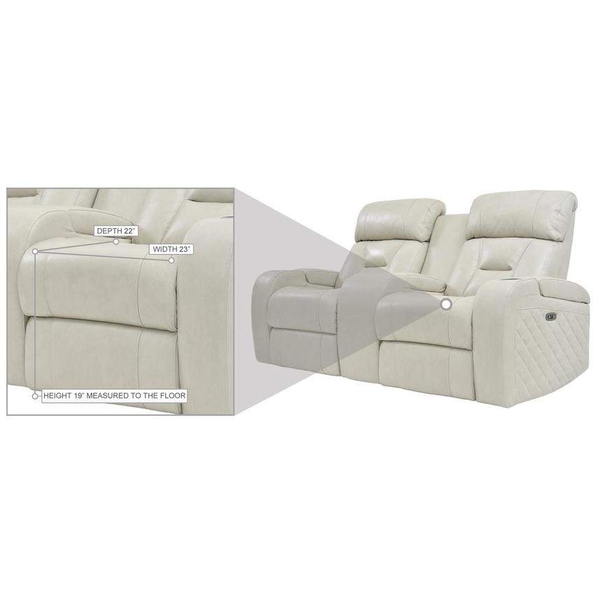 Gio Cream Leather Power Reclining Sofa w/Console  alternate image, 11 of 11 images.