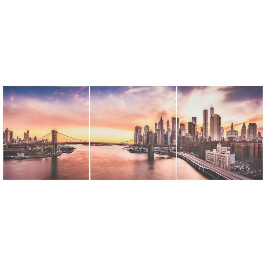 New York Set of 3 Acrylic Wall Art  main image, 1 of 3 images.