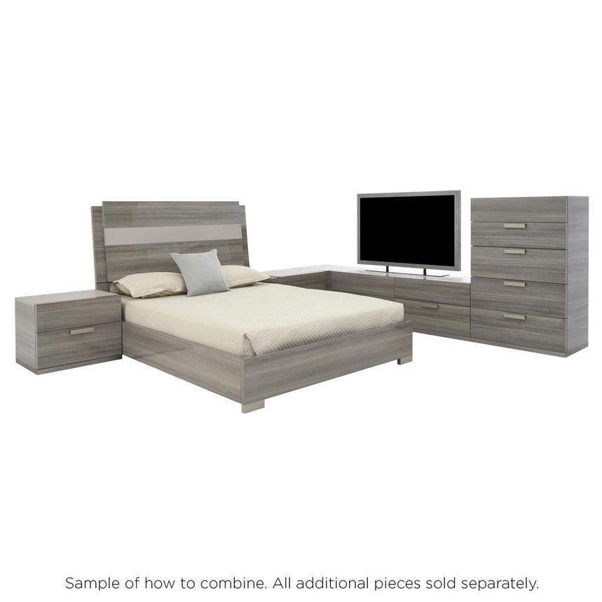 Iris King Platform Bed Made In Italy El Dorado Furniture