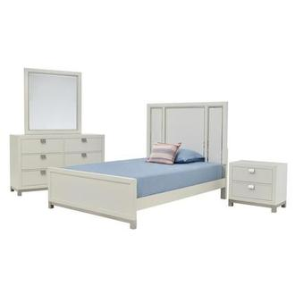 Metro White 4-Piece Twin Bedroom Set