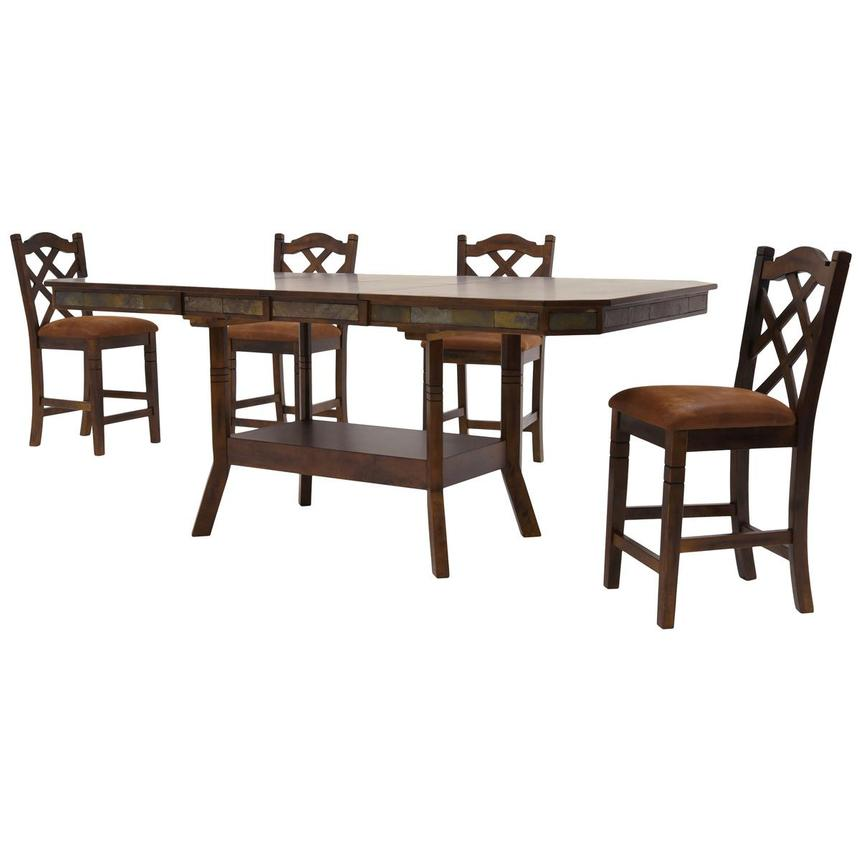 Santa Fe 5-Piece High Dining Set  alternate image, 2 of 10 images.