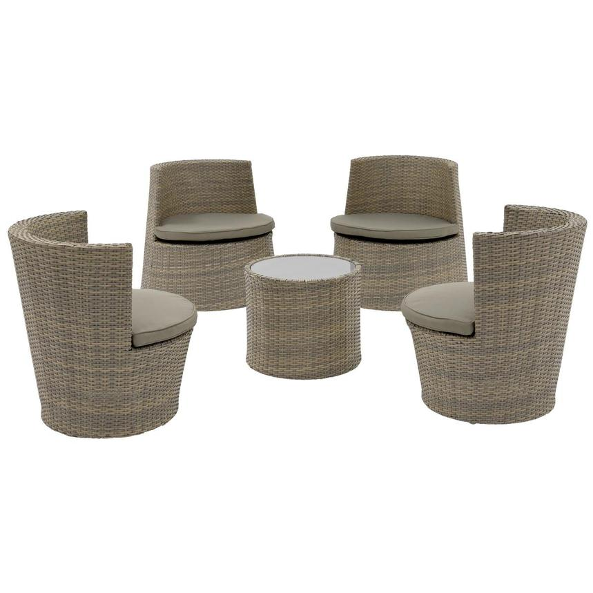 Tower Brown 5-Piece Patio Set (Sold By Set Only)  main image, 1 of 8 images.