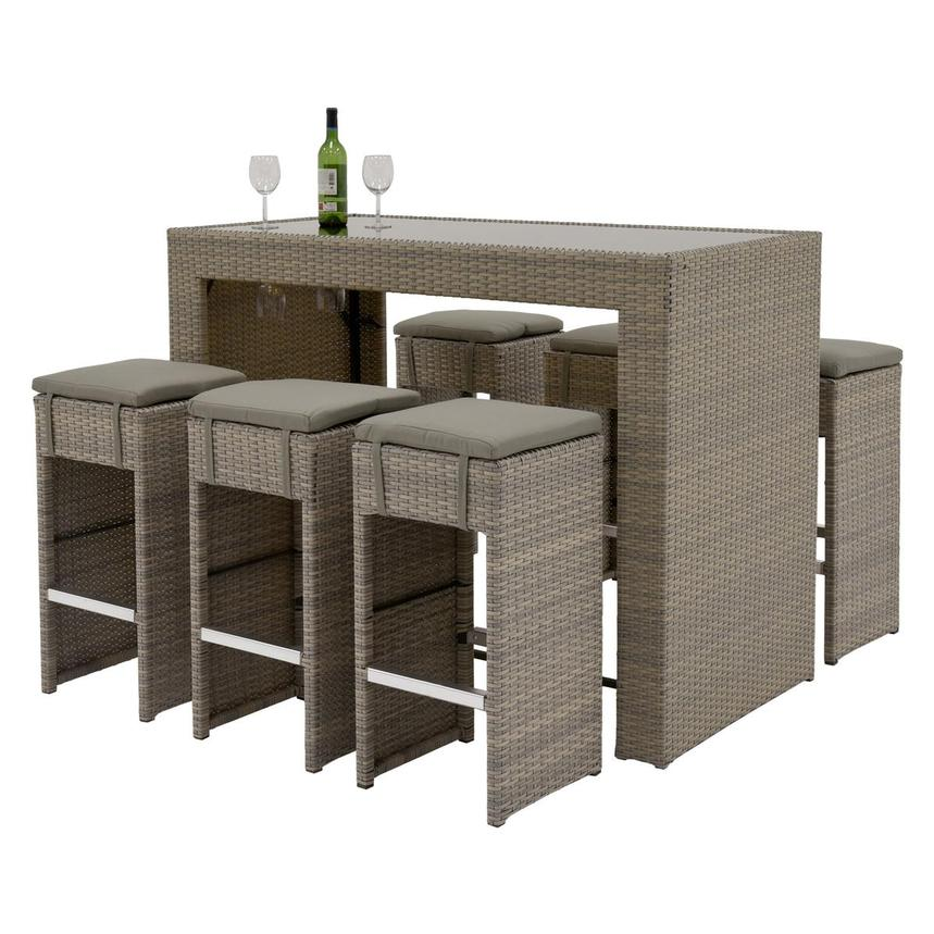 Neilina Brown 7-Piece Patio Set  main image, 1 of 11 images.