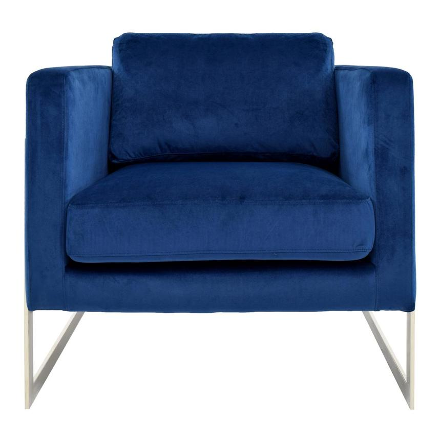 Emily Blue Accent Chair  main image, 1 of 5 images.