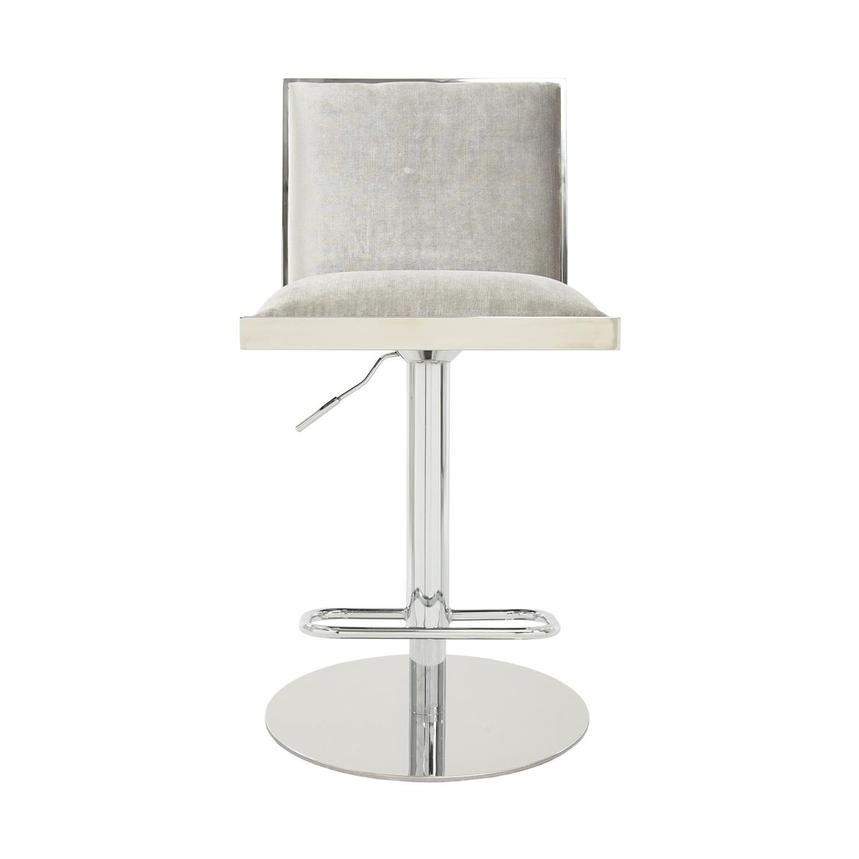 Allison Silver Gray Adjustable Stool  alternate image, 2 of 7 images.