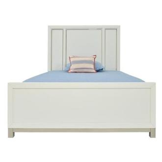 Metro White Full Panel Bed