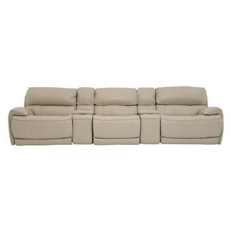 Cody Cream Home Theater Leather Seating