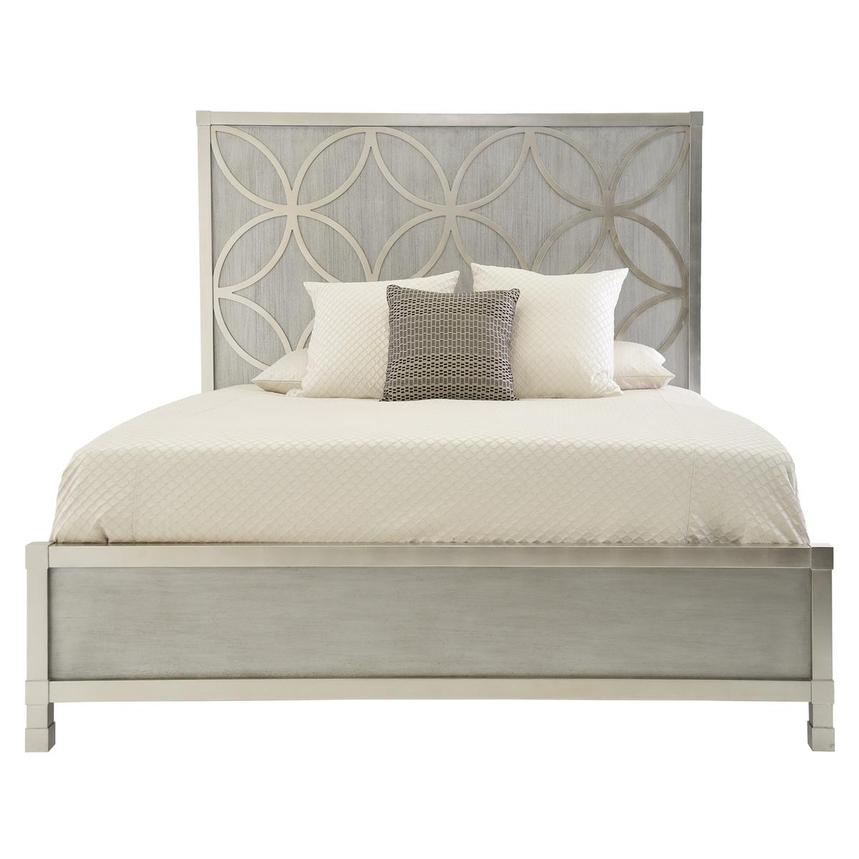 Chic King Panel Bed  main image, 1 of 5 images.