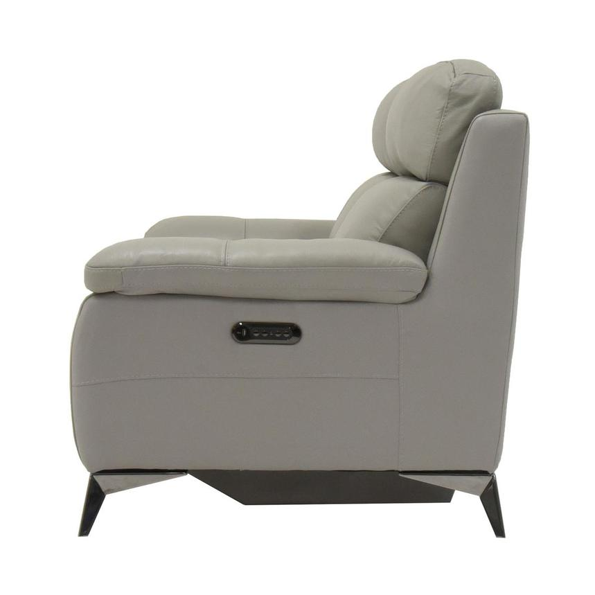 Barry Gray Leather Power Reclining Loveseat  alternate image, 6 of 10 images.