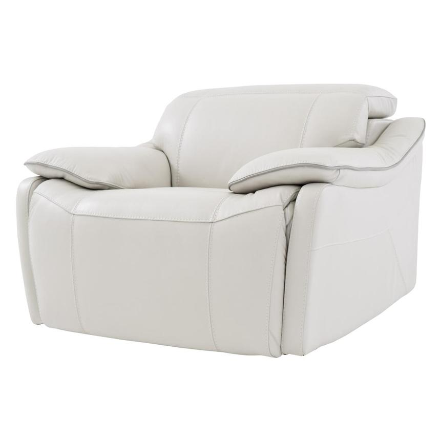 Austin White Power Motion Leather Recliner  alternate image, 2 of 7 images.