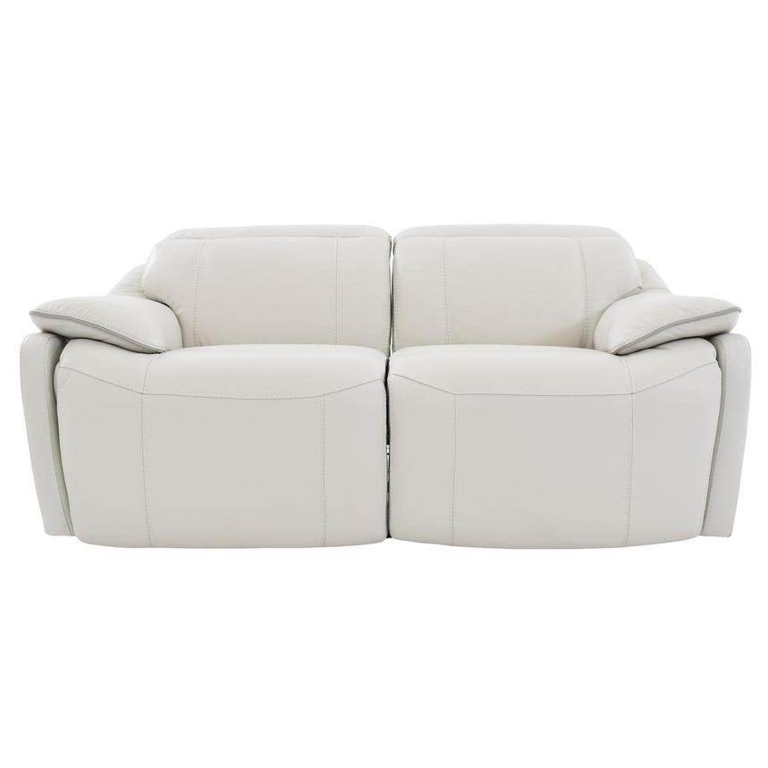 Austin White Leather Power Reclining Loveseat  main image, 1 of 6 images.