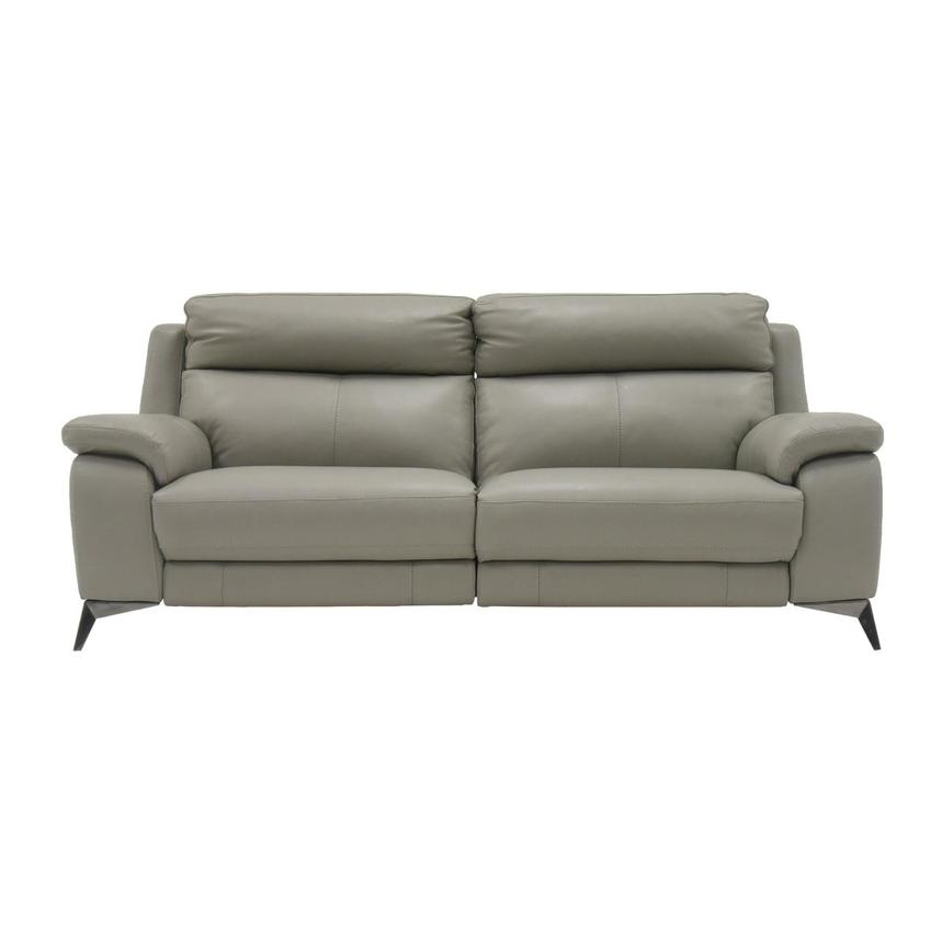 Barry Gray Leather Power Reclining Sofa  main image, 1 of 10 images.