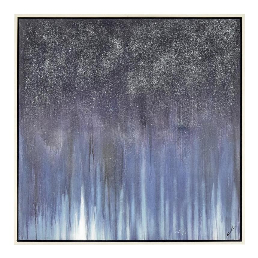 Bleu Sparkle Canvas Wall Art  main image, 1 of 4 images.