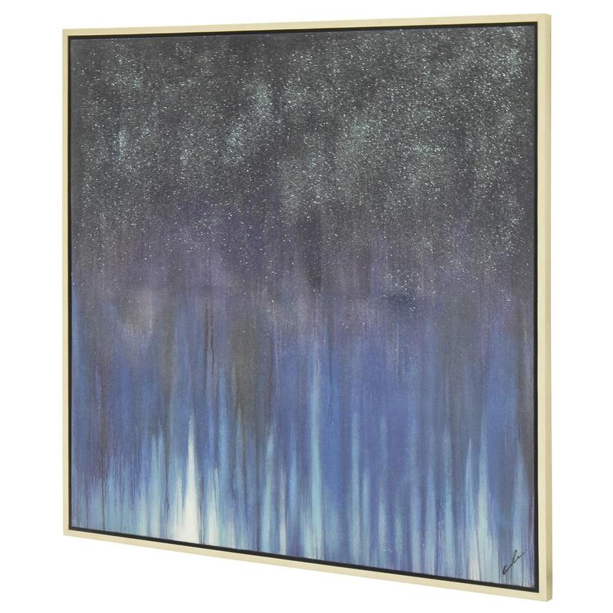 Bleu Sparkle Canvas Wall Art  alternate image, 2 of 4 images.