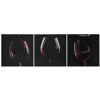 Vino Rosso Set of 3 Acrylic Wall Art
