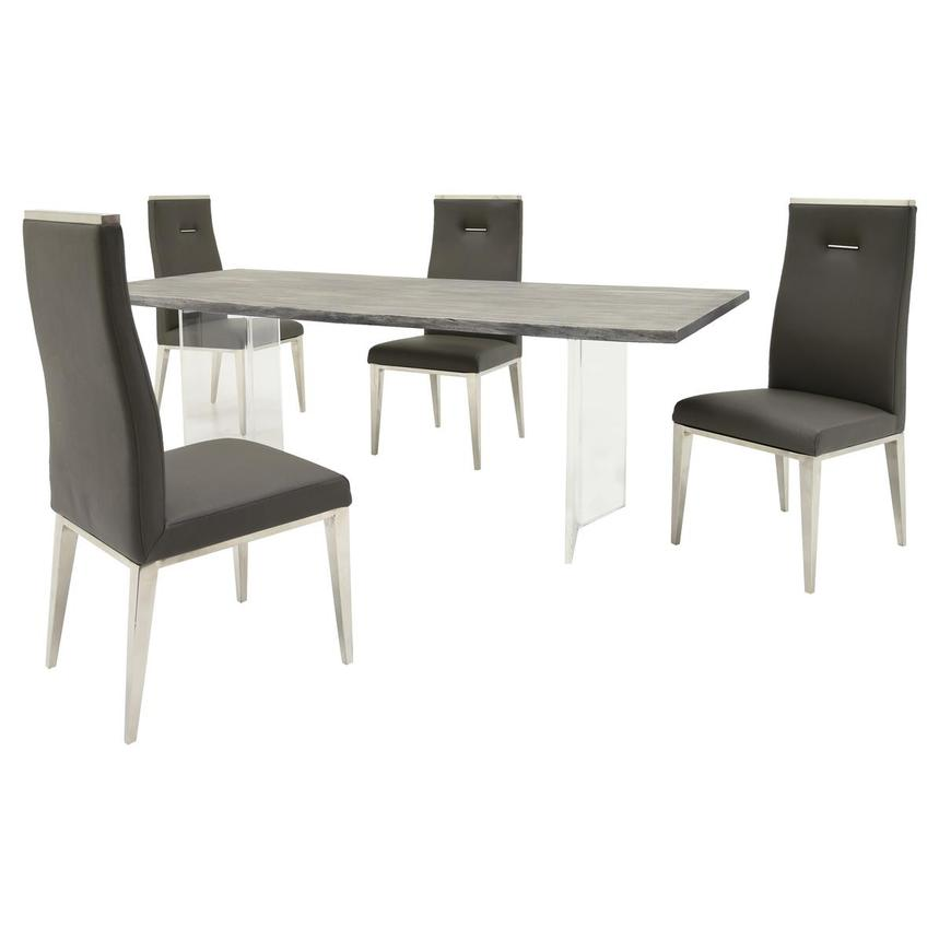 Light/Hyde Gray 5-Piece Formal Dining Set  main image, 1 of 13 images.