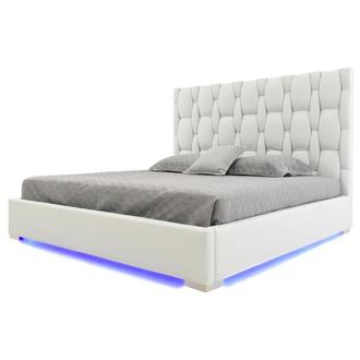 Livia White King Platform Bed