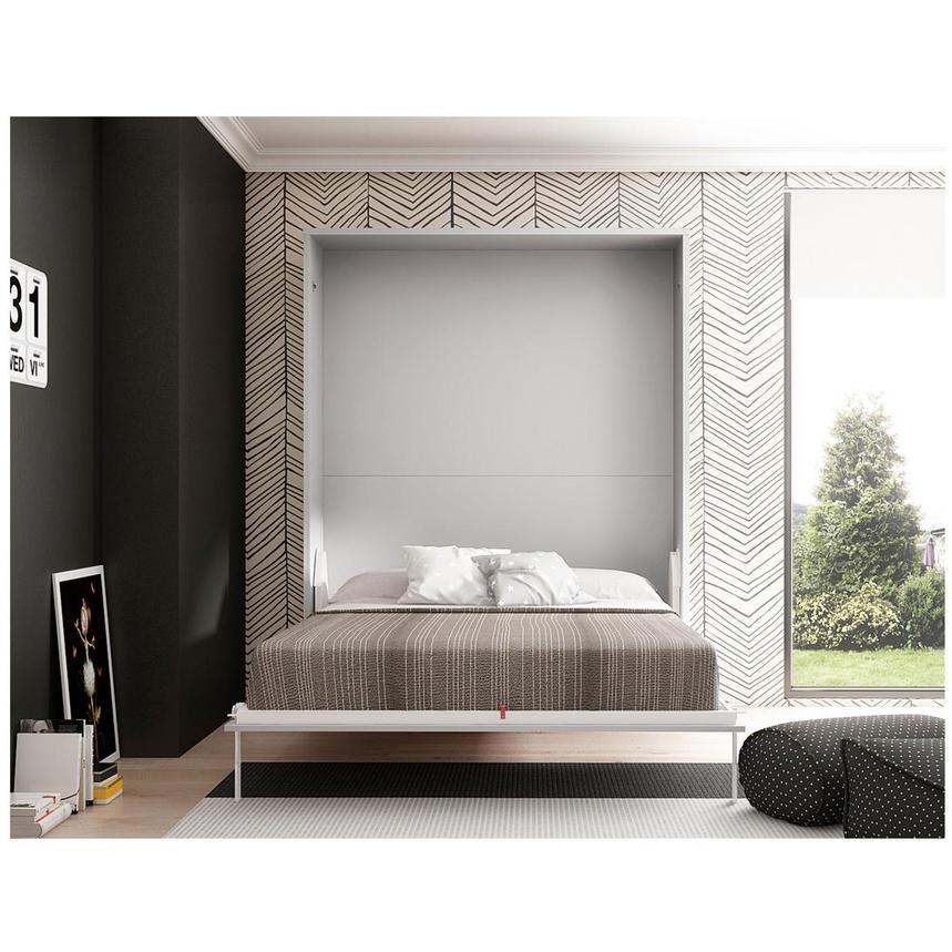 Murphy Bed.Organizer White Queen Murphy Bed Made In Spain