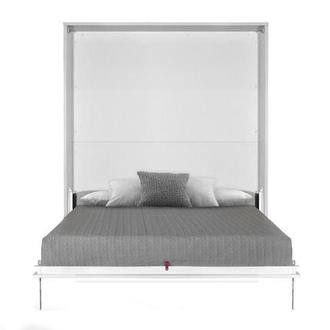 Organizer White Queen Murphy Bed Made in Spain