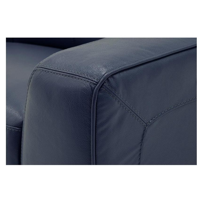 Jay Blue Leather Power Recliner  alternate image, 6 of 8 images.