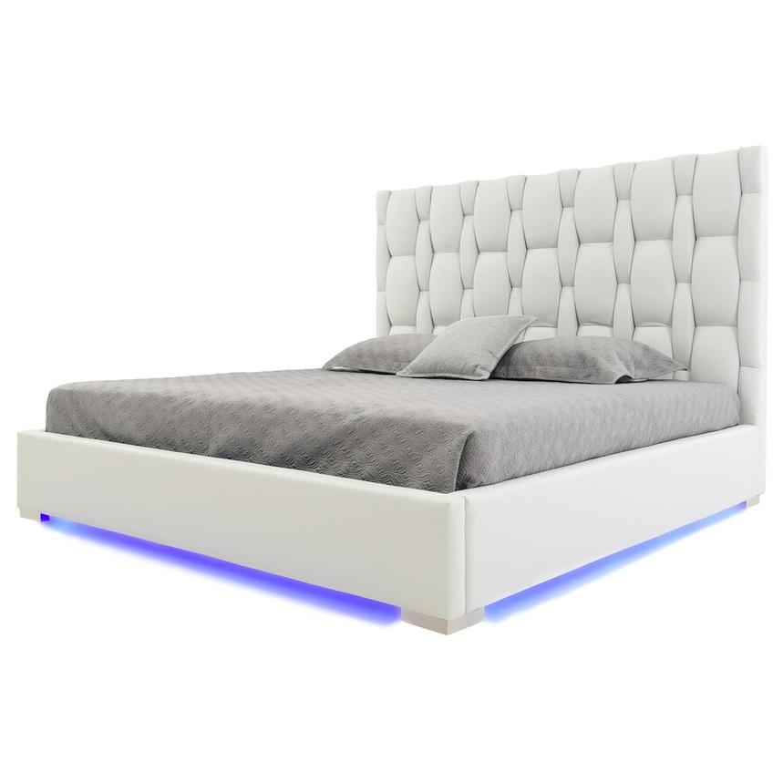 Livia White Queen Platform Bed  main image, 1 of 7 images.