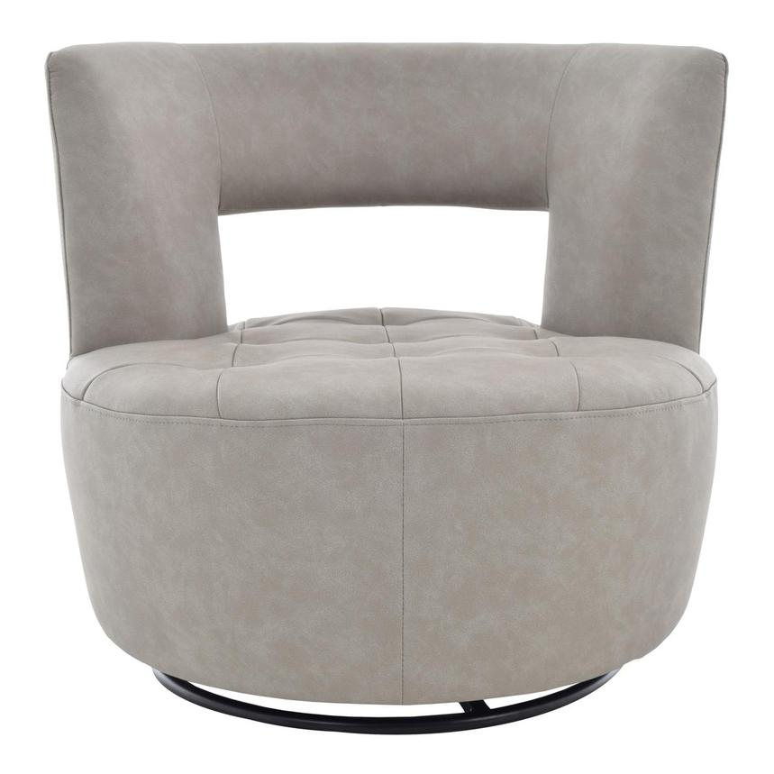 Noale Light Gray Swivel Accent Chair  main image, 1 of 6 images.