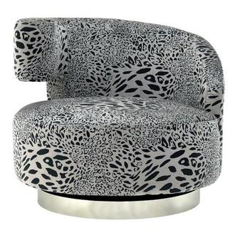Okru Animal Print Swivel Chair