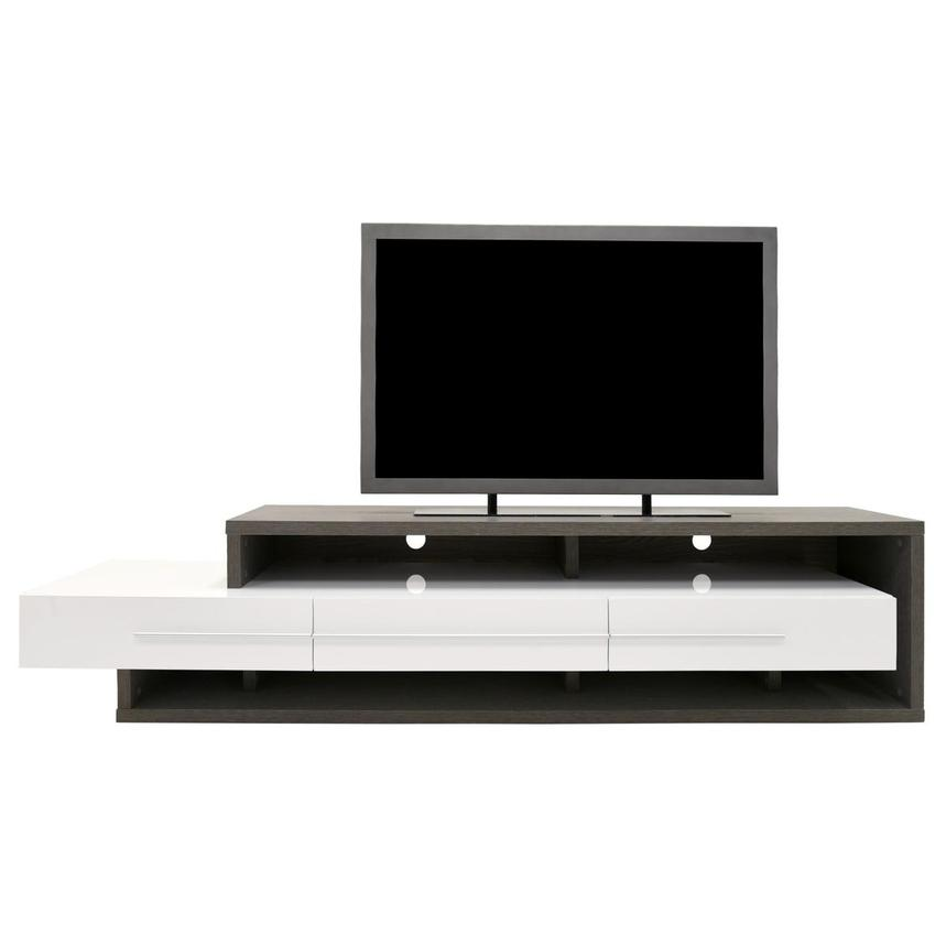 Avanti Gray/White TV Stand  main image, 1 of 7 images.