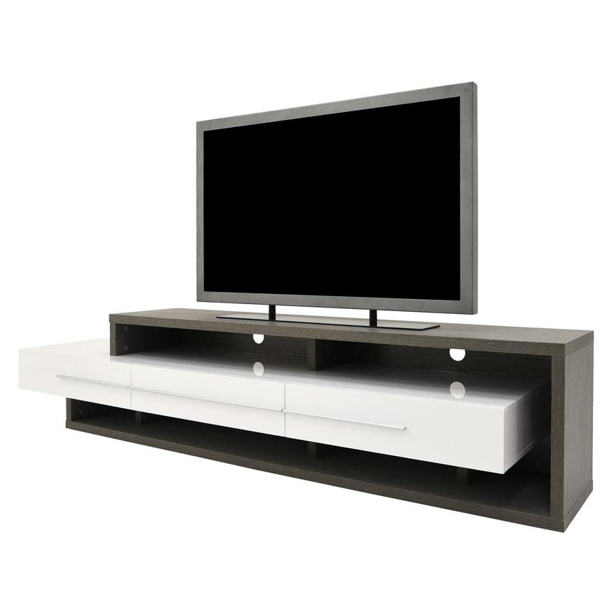 Avanti Gray/White TV Stand  alternate image, 2 of 6 images.